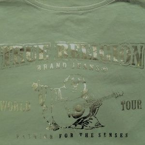 Kids Large True Religion Scratch Metal Tour Tee